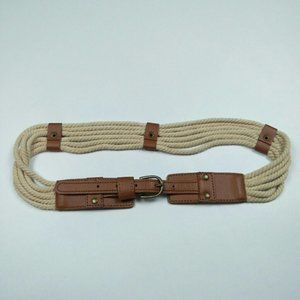 Rope and vegan leather belt Sz. S/M
